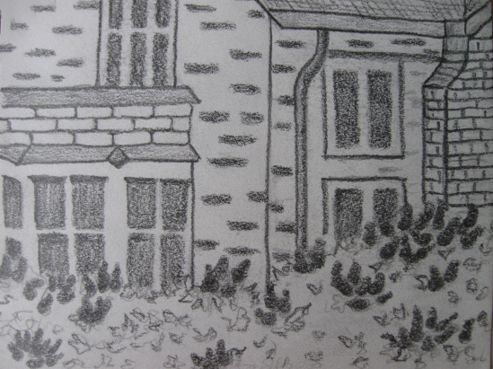 Office View with Lilac (pencil)