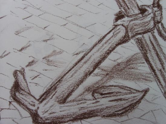 Anchor (conte pencil)