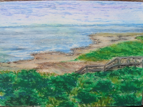 Crane Beach for Betsy (pastels)