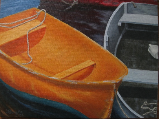Metal Skiff (oil)