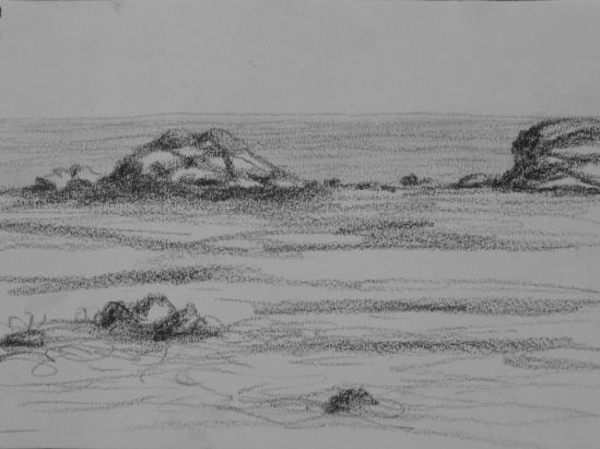 Brace Cove (charcoal pencil, 5 x 7)