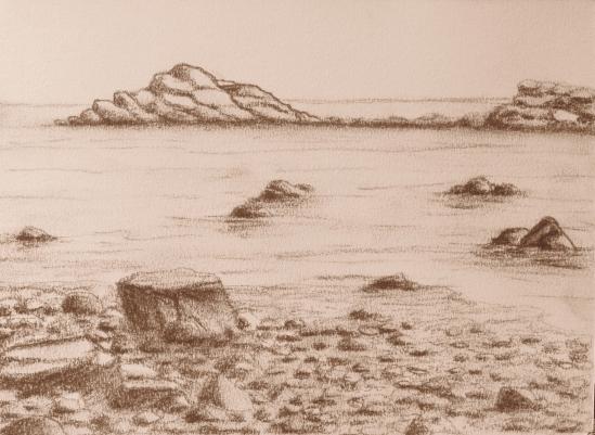 Brace Cove ( conte pencil, 5 x 7)