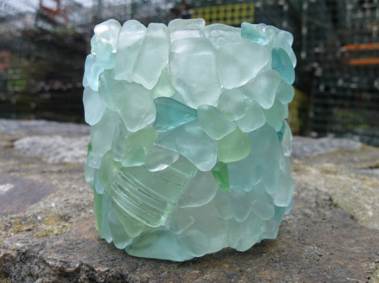 Seaglass Votive Holder